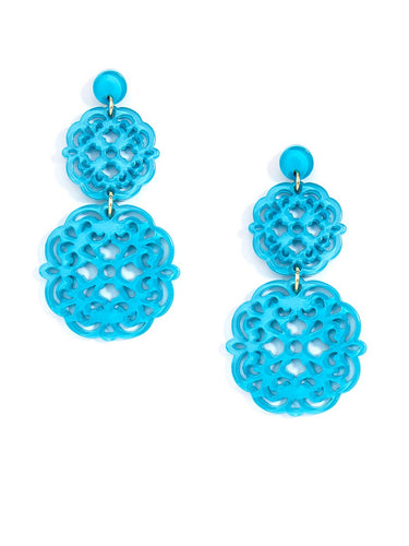 Zenzi Two Tiered Earring - Spring