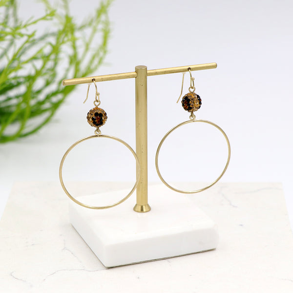 Zoe Leopard Geometric Earrings