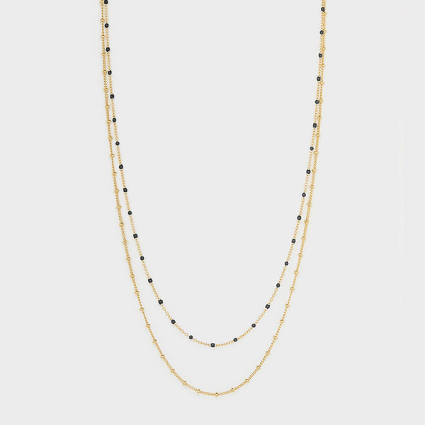 Gorjana - Capri Layer Necklace Black
