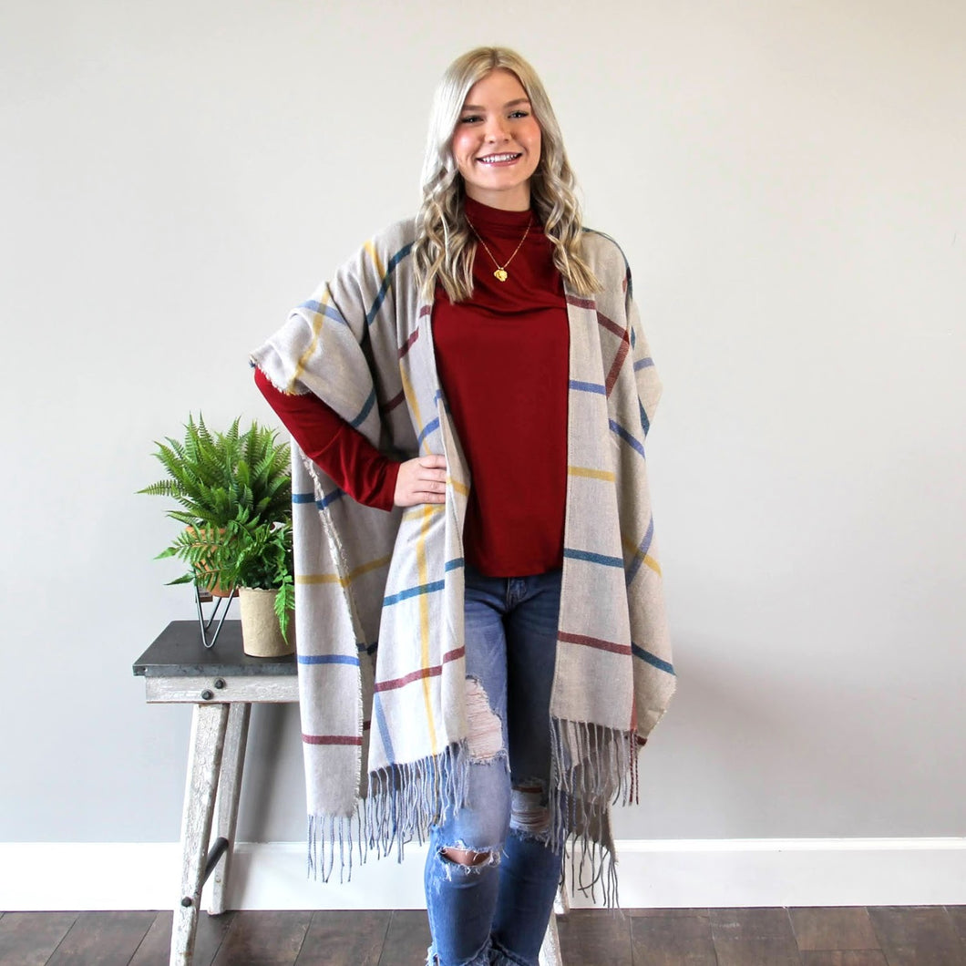 Modern Plaid Wrap