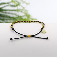 Pura Vida Custom Mini Braided Bracelet Black and Yellow