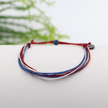 Pura Vida Custom Bracelet Red White and Blue
