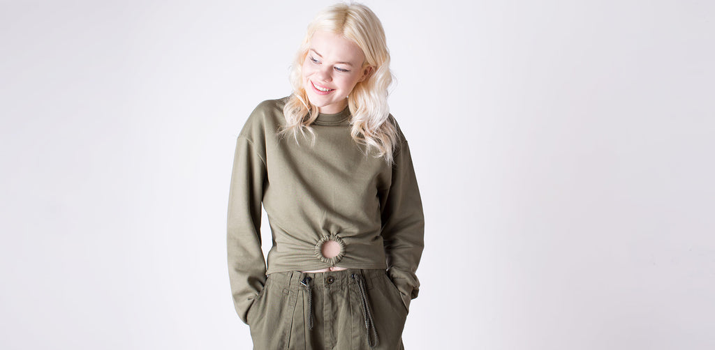 Khaki Trousers and Jumper