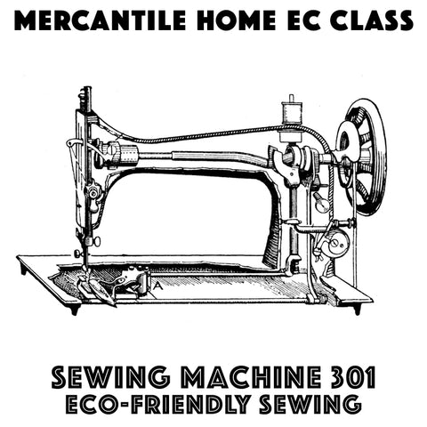 "Sewing Machine Basics 301: ""Ditch the Plastic"" eco friendly sewing projects (October 25)"