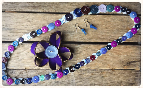 Mercantile Home Ec: Jewelry Making with Buttons and Zippers (September 29)