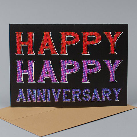 Happy Happy Anniversary Card