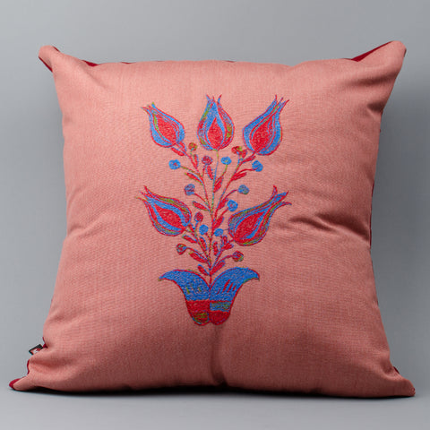 Folk Art Flower Pillow (#2)