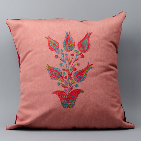 Folk Art Flower Pillow (#4)