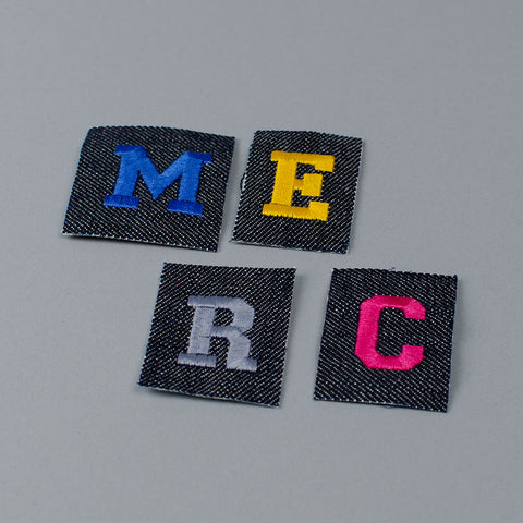 Embroidered Iron On Letters