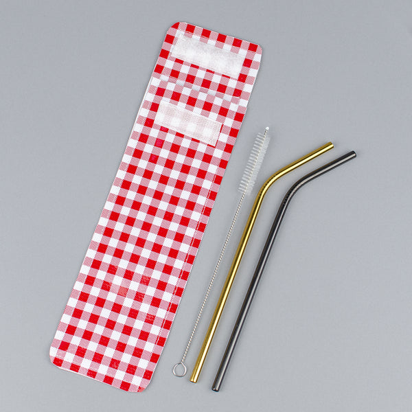 Reusable Stainless Steel Straw Pack