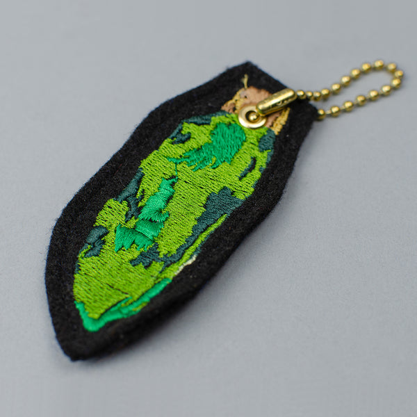 Embroidered Lucky Rabbit's Foot Key Chain