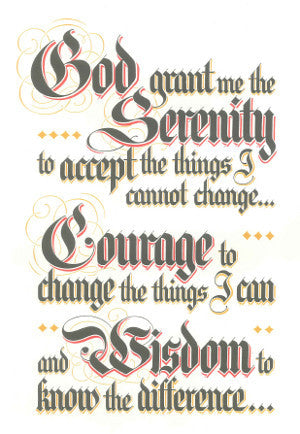 Steps, Traditions, and Serenity Prayer Parchment Set
