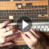 How to apply Lazerwood real wood key covers to Apply keyboards