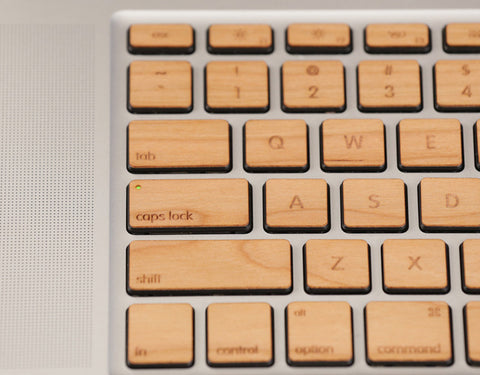 Lazerwood real wood key covers for Apple keyboards