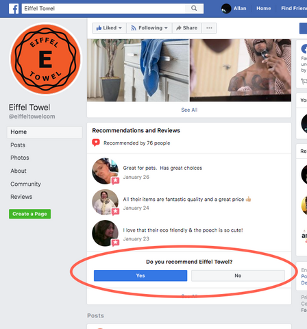 How to use the new Recommend on Facebook instead of review