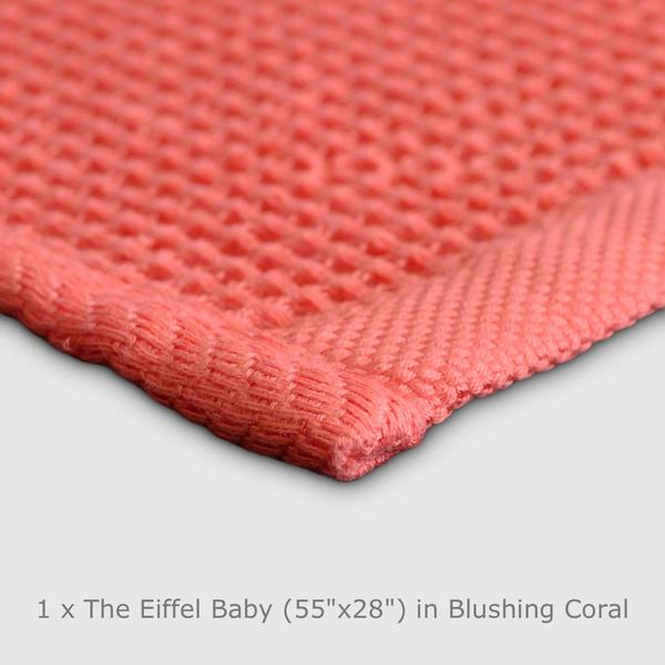Living Coral Eiffel Towel Organic Cotton for children eczema