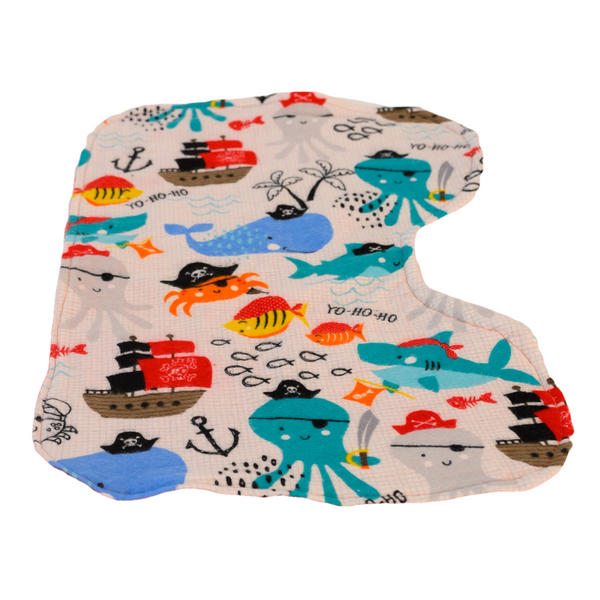 Pirates of the Crib Infant Burp Cloth