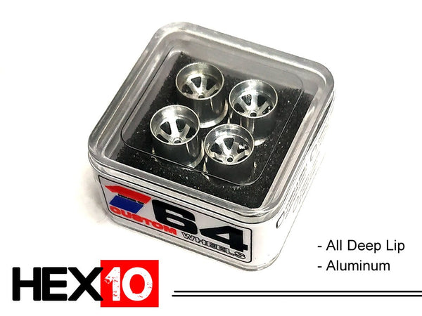 House Of 164 - Wheels - HEX10 - aluminum all deep lip - aluminum all deep lip