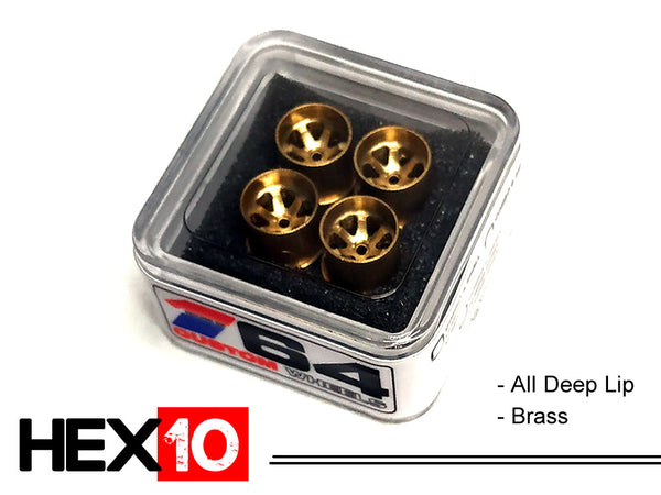 House Of 164 - Wheels - HEX10 - brass all deep lip - brass all deep lip