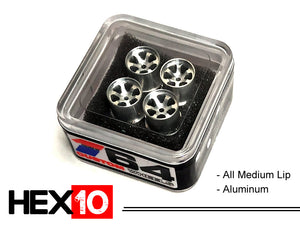 House Of 164 - Wheels - HEX10 - aluminum all medium lip - aluminum all medium lip