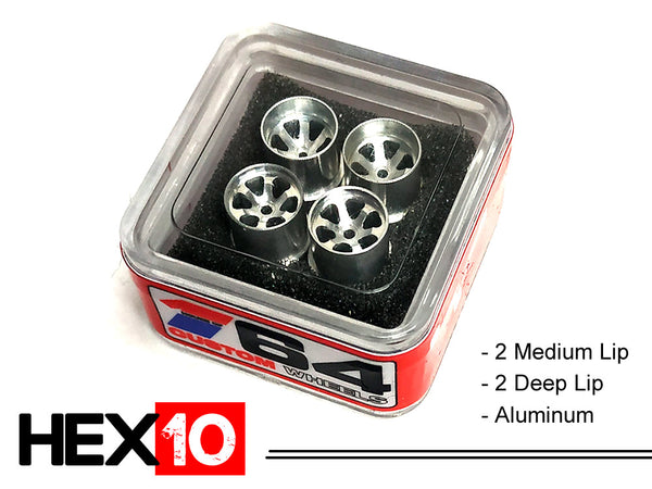 House Of 164 - Wheels - HEX10 - aluminum 2 deep 2 medium - aluminum (2 deep lip; 2 medium lip)