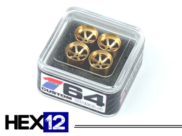 House Of 164 - Wheels - HEX12 - brass 2 deep 2 medium -