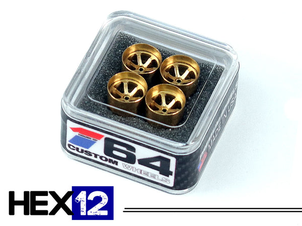 House Of 164 - Wheels - HEX12 - brass all deep lip -