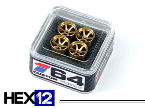 House Of 164 - Wheels - HEX12 - brass all medium lip -