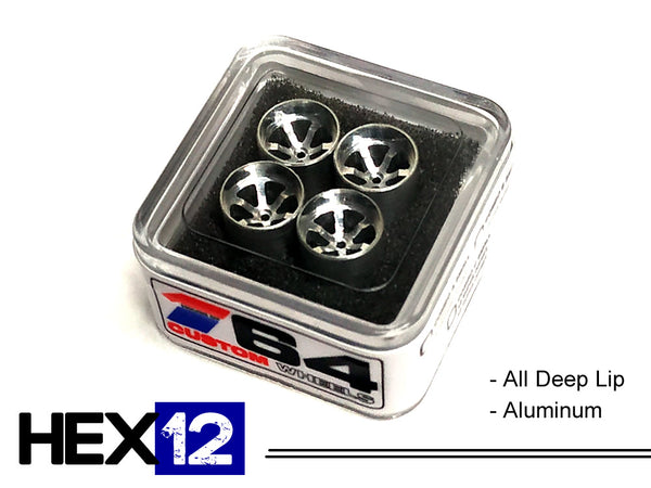 House Of 164 - Wheels - HEX12 - aluminum all deep lip - aluminum all deep lip
