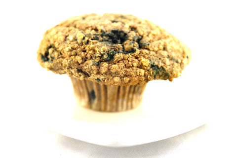 Blueberries, bananas and oatmeal in one muffin at the Bittersweet cafe