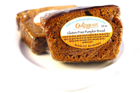 Fresh pumpkin bread served at the Bittersweet