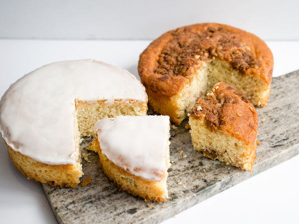 lemon cake + coffeecake duo
