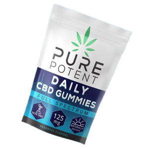Pure Potent - Daily CBD Gummies 125mg 5ct Bottle