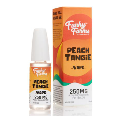 Funky Farms - Peach Tangie CBD Vape Juice