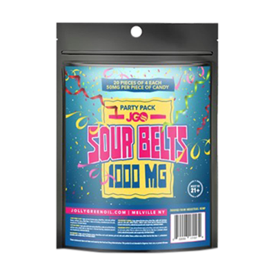 Jolly Green Oil - Party Pack Sour Belts 1000mg