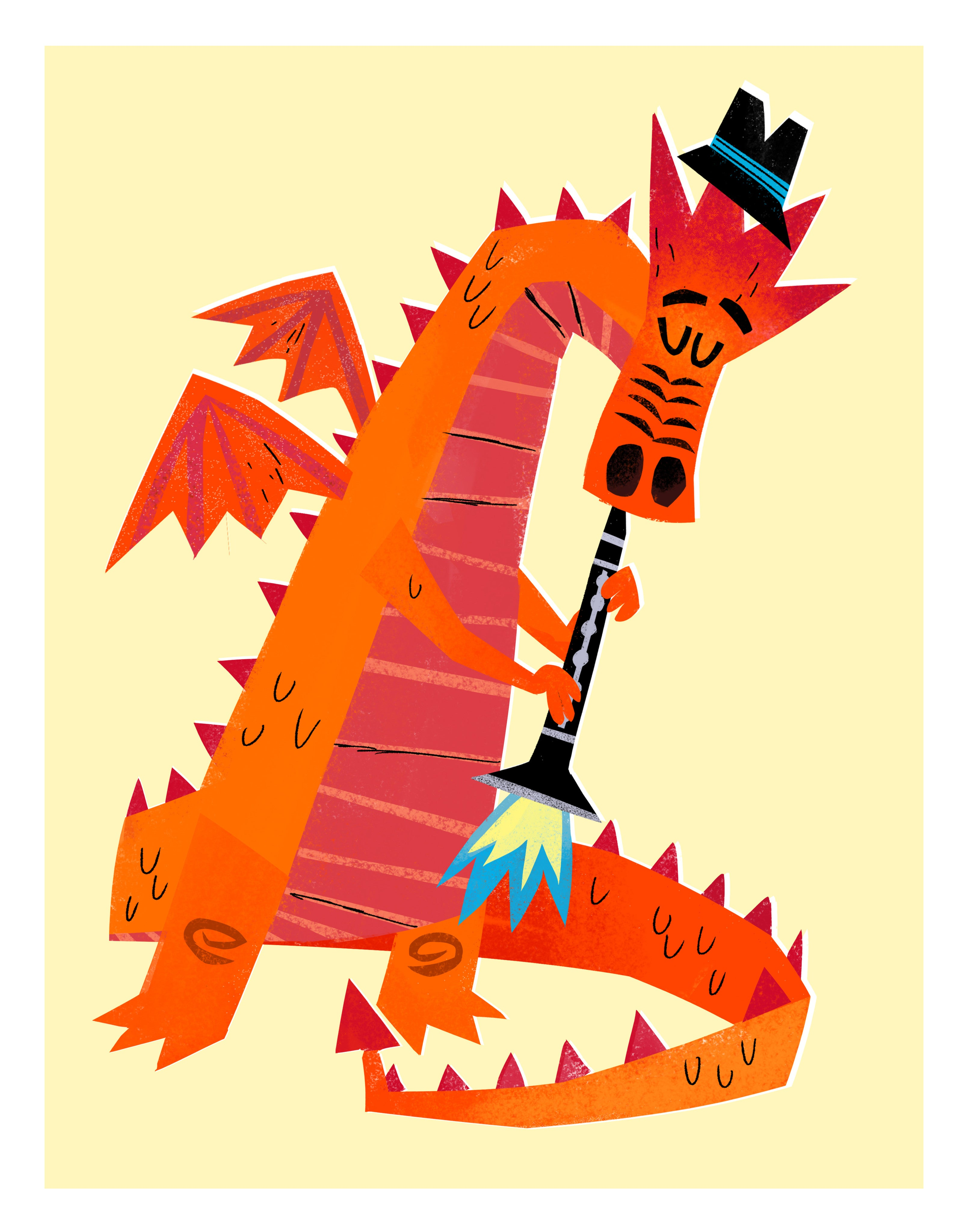 The Fire Starters - Dragon Clarinet Print