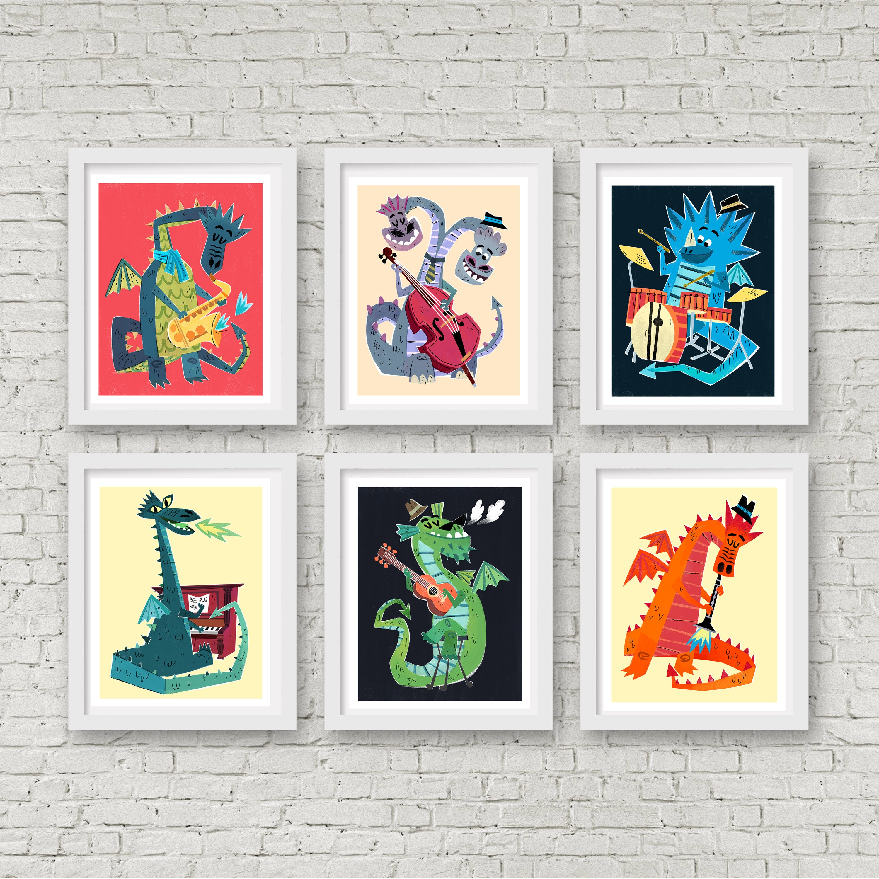 The Fire Starters - Dragon Drummer Print