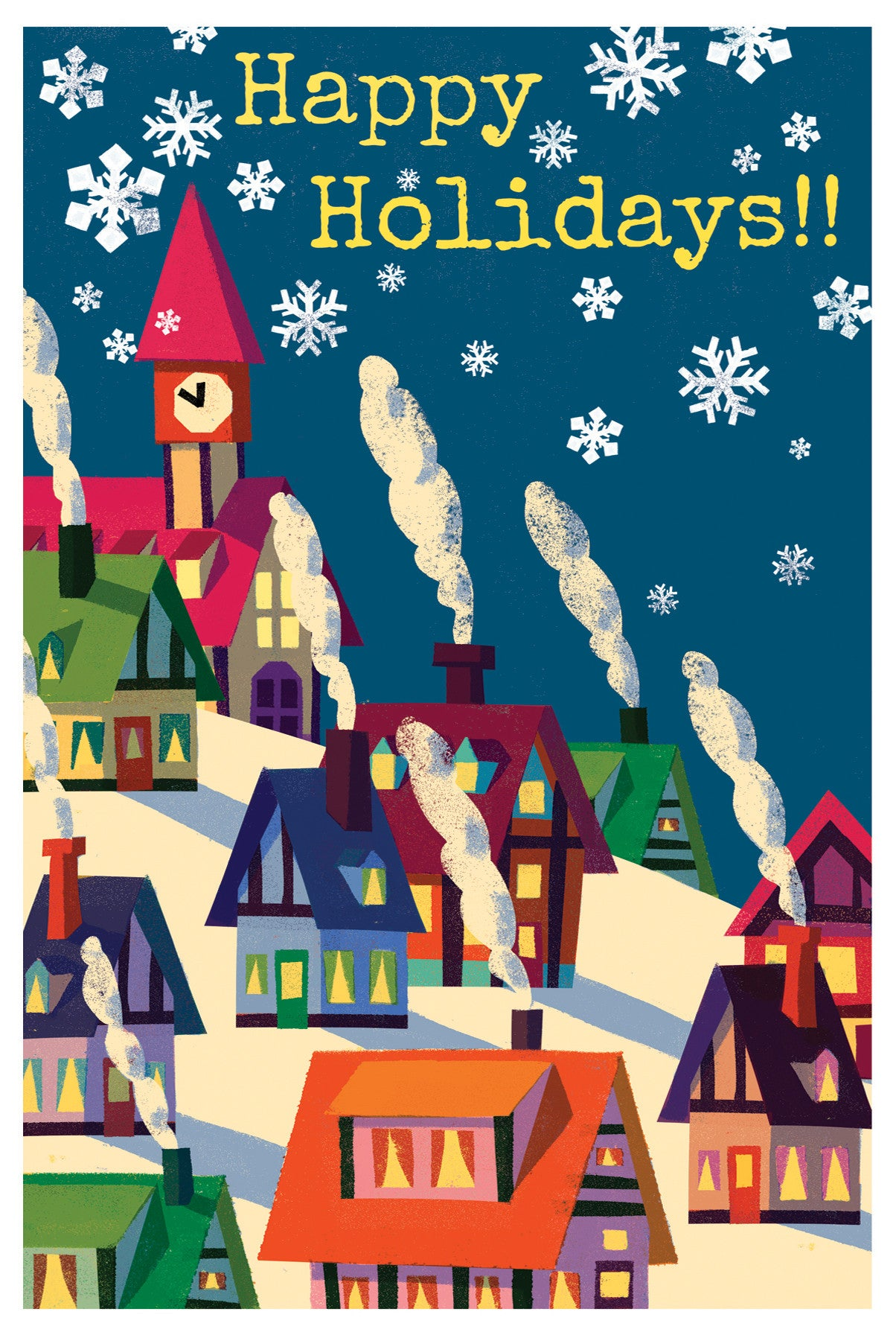 Christmas Village Card - Scratch N' Sniff