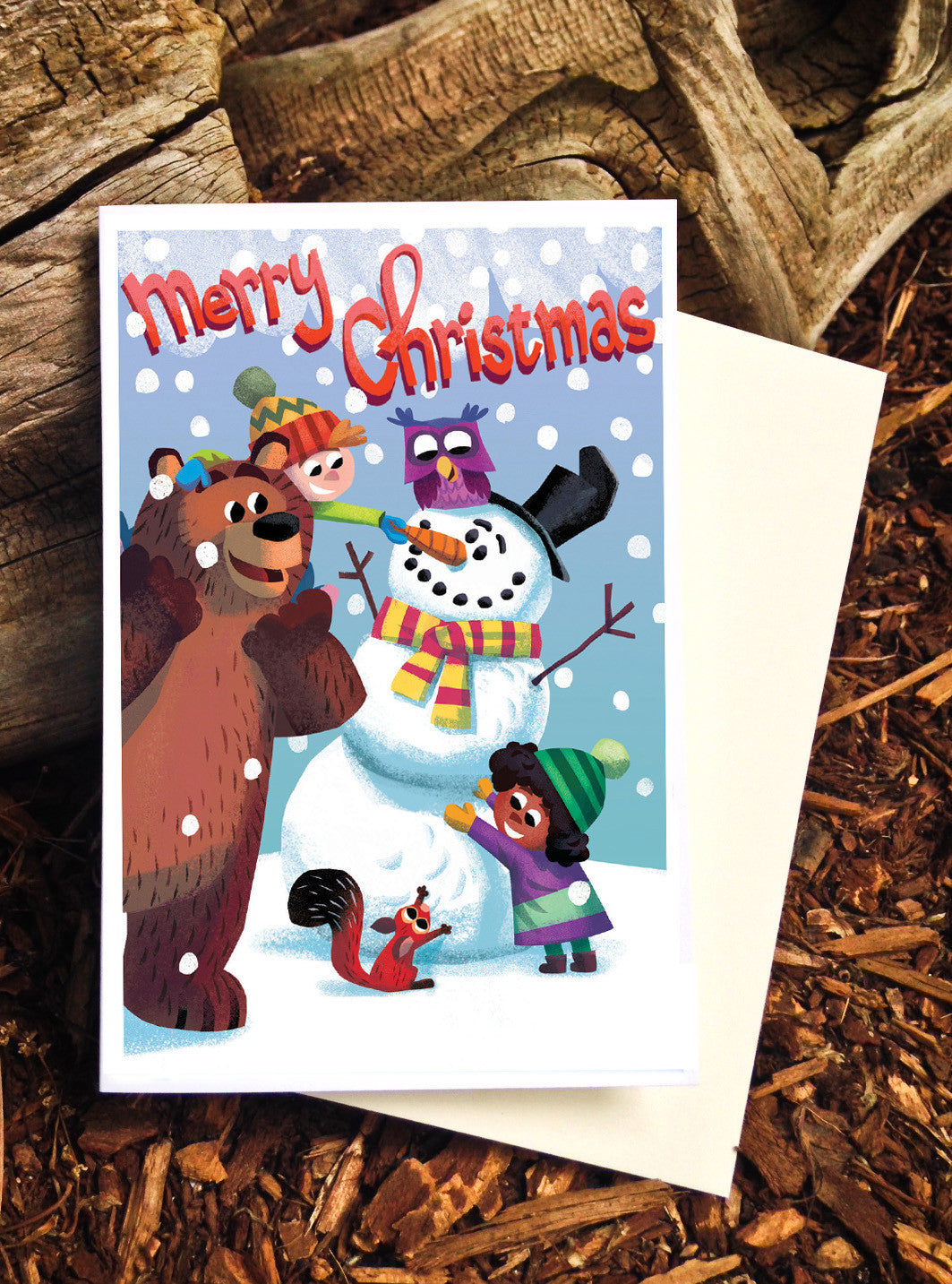 Snow Fun Christmas card