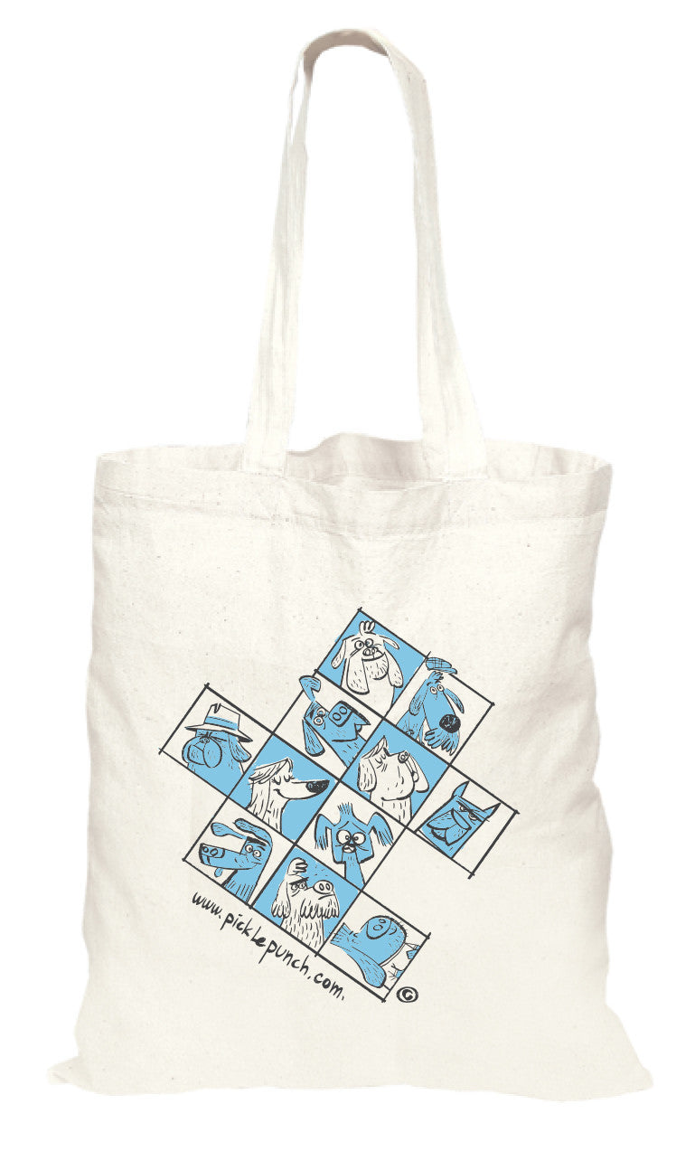 Dog Tote Bag - Natural Cotton