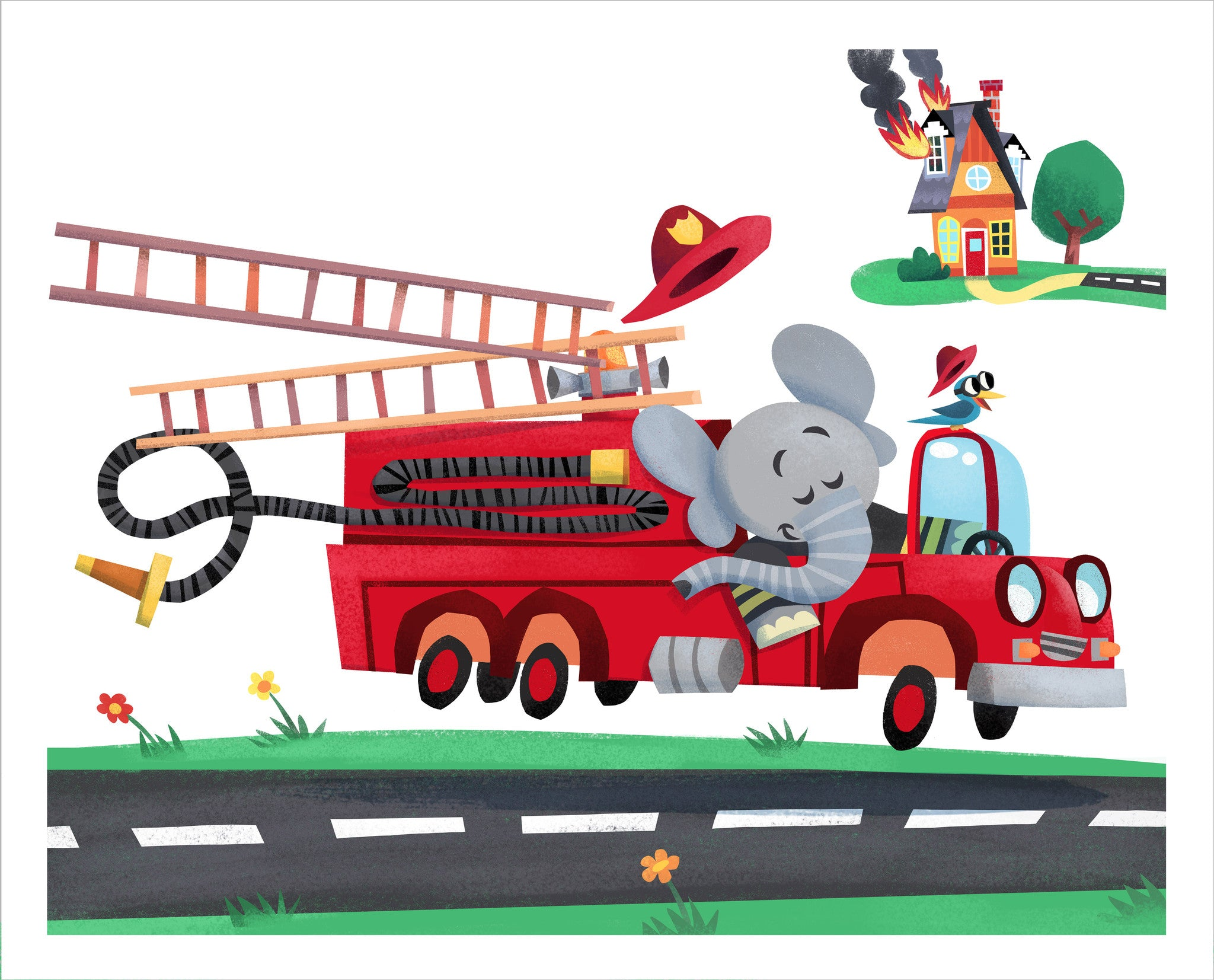 Firetruck Elephant and Mouse