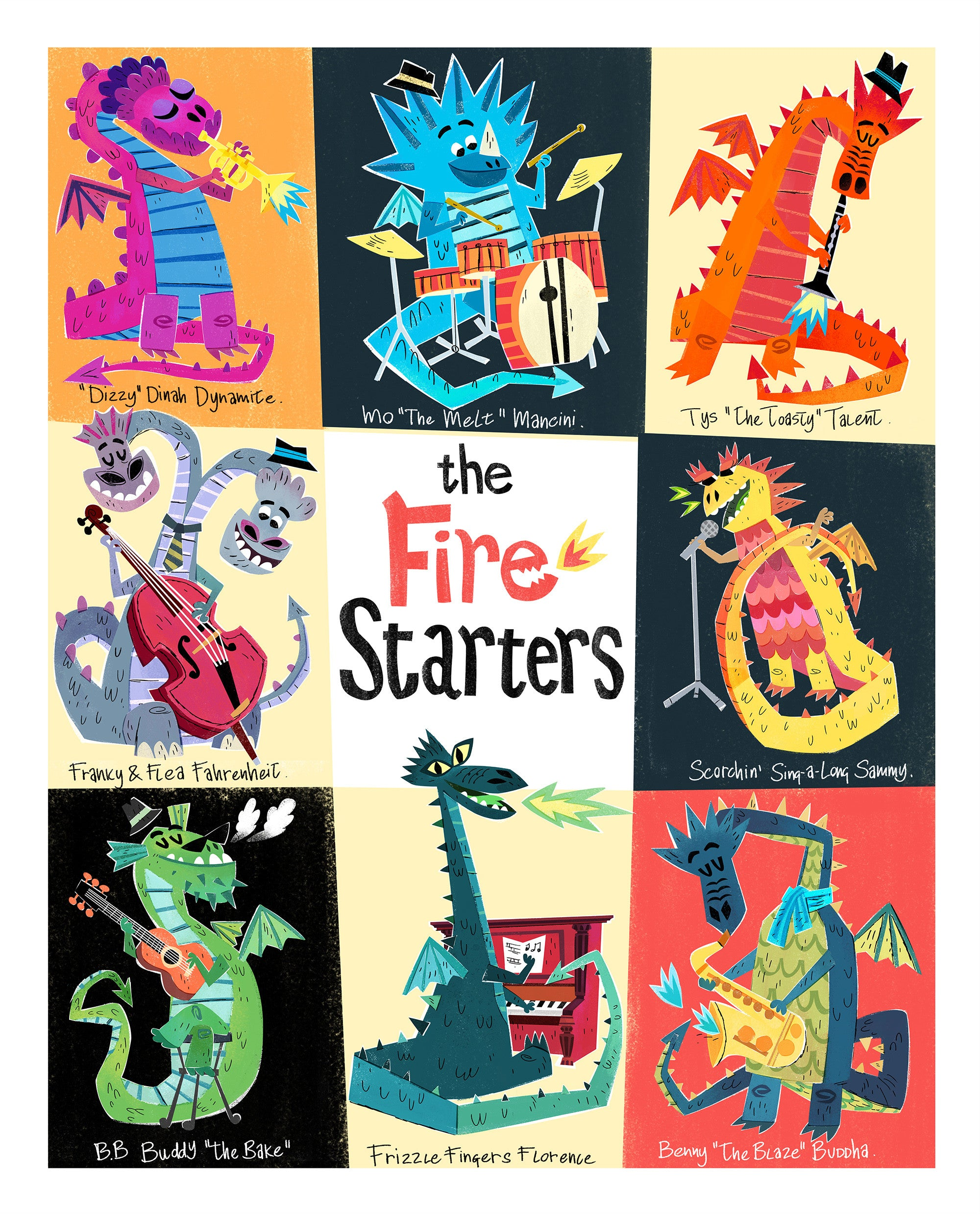 'The Fire Starters' Print