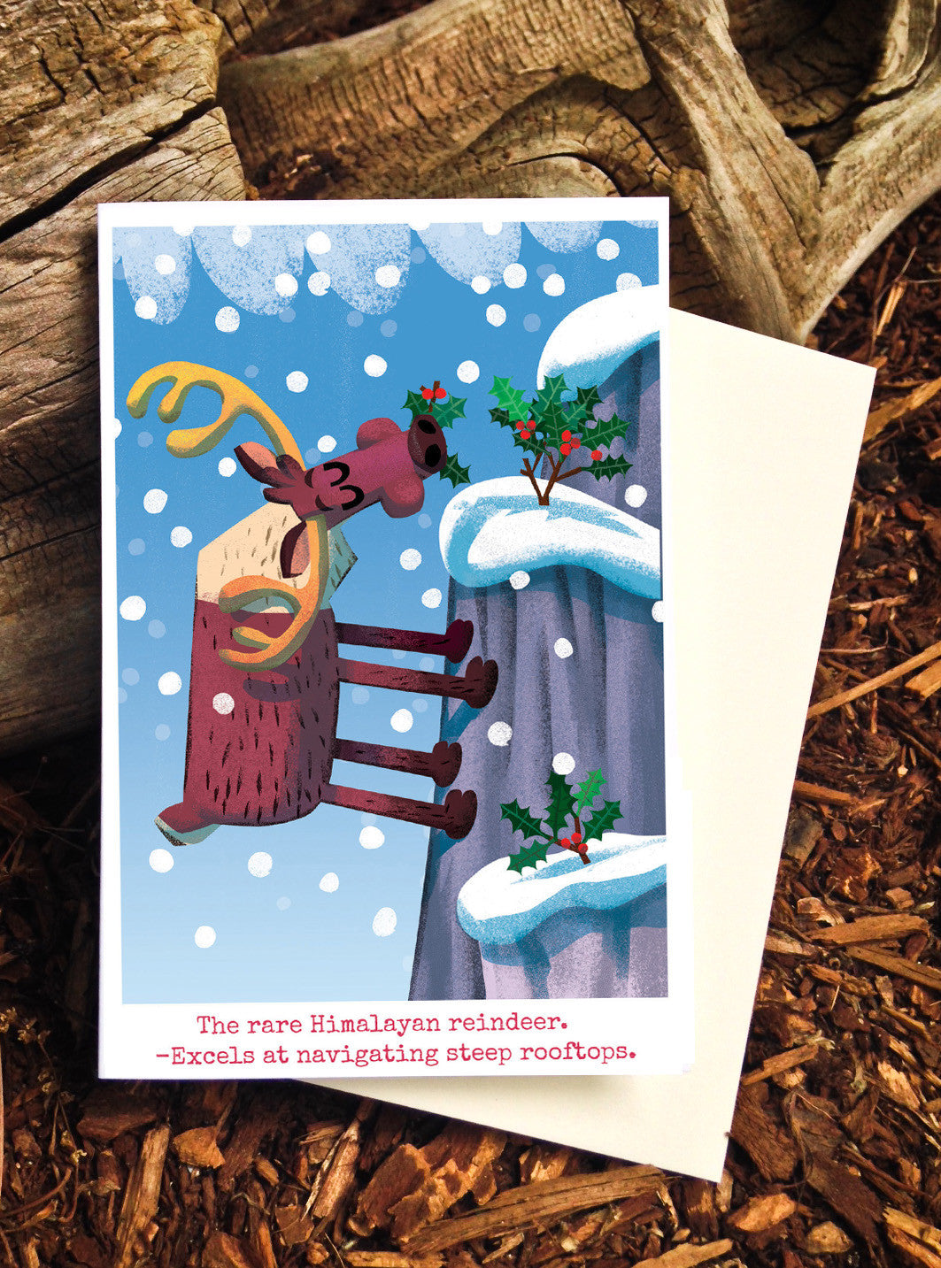 The Rare Himalayan Reindeer card