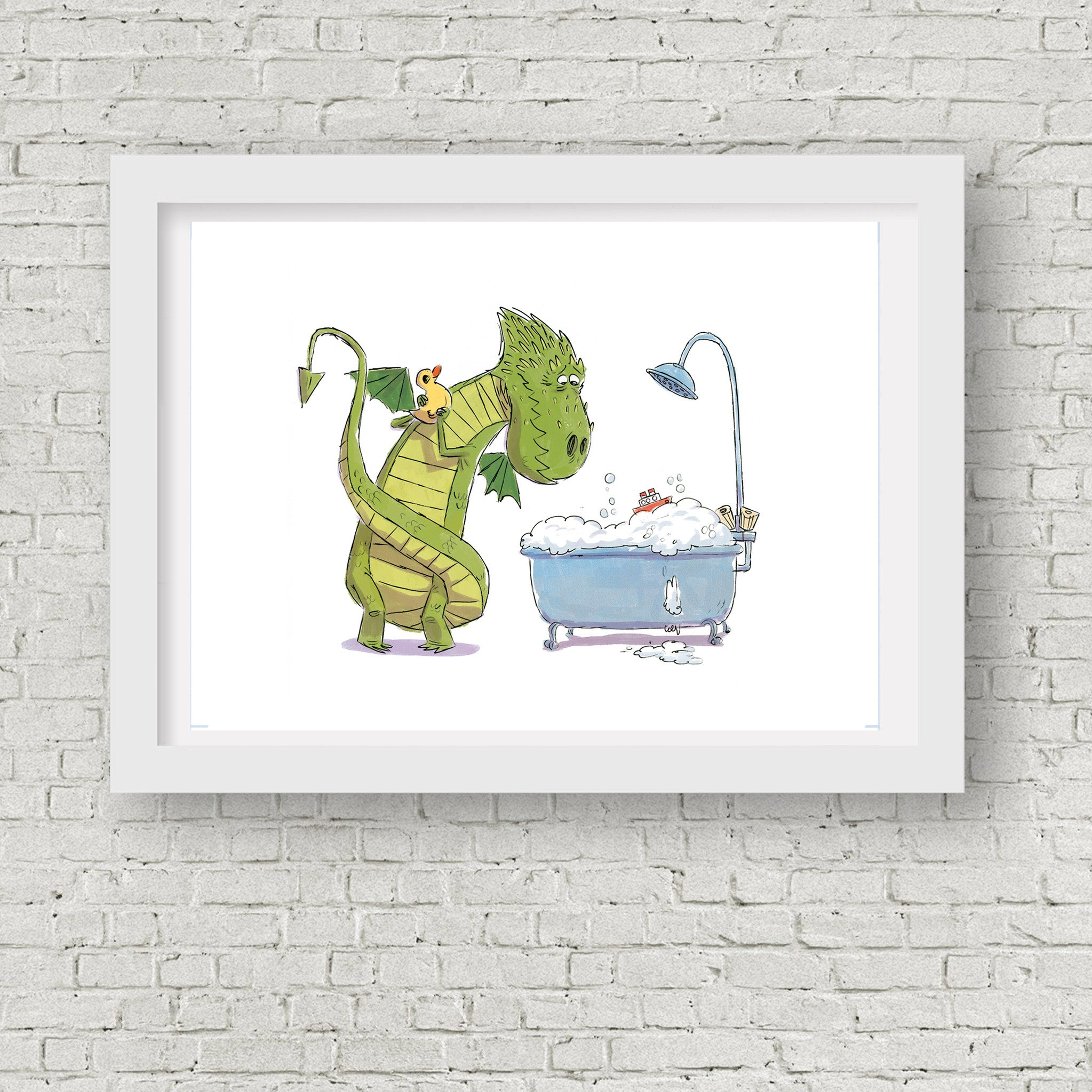 Dragon Bath Time - Print 5