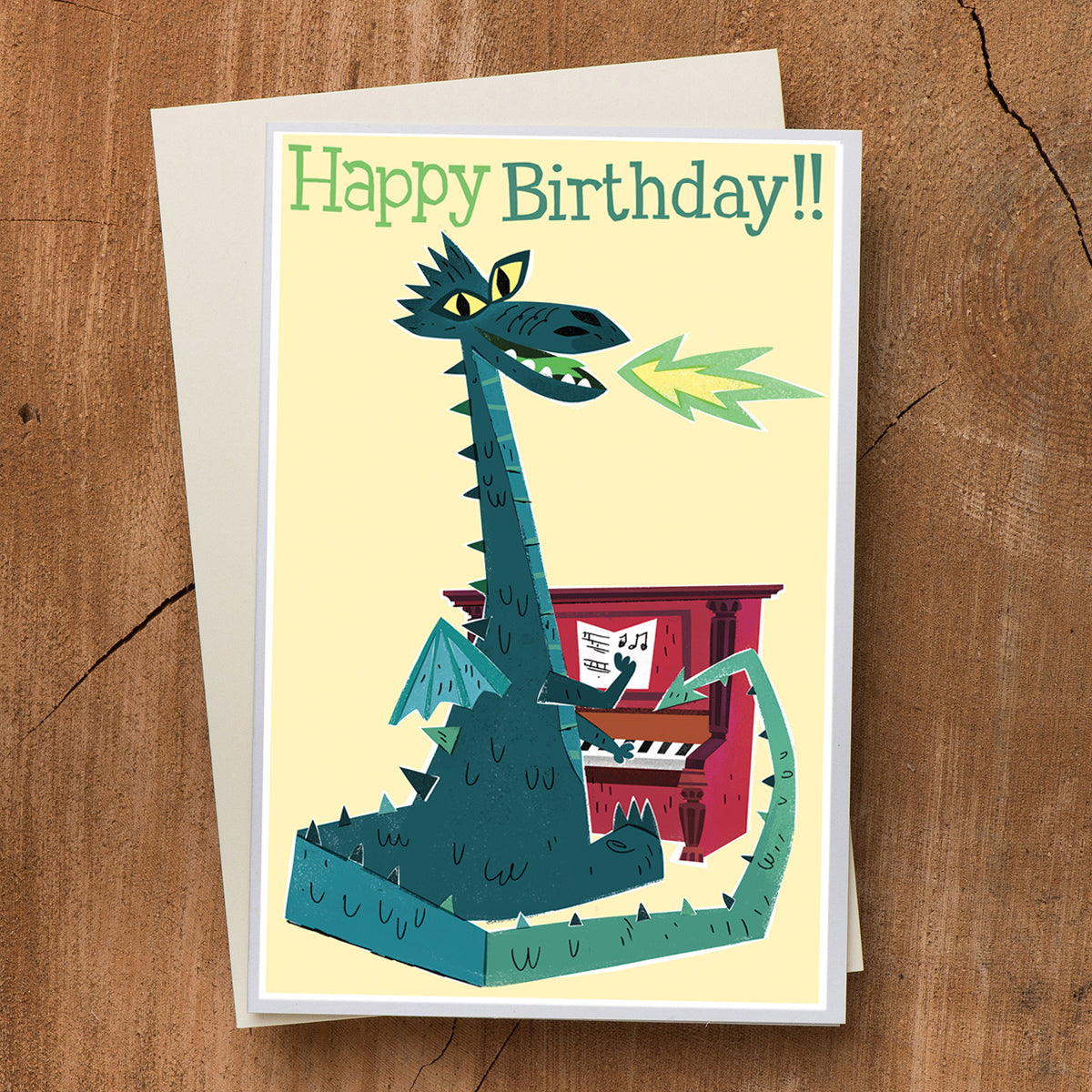 Dragon Pianist Birthday Card