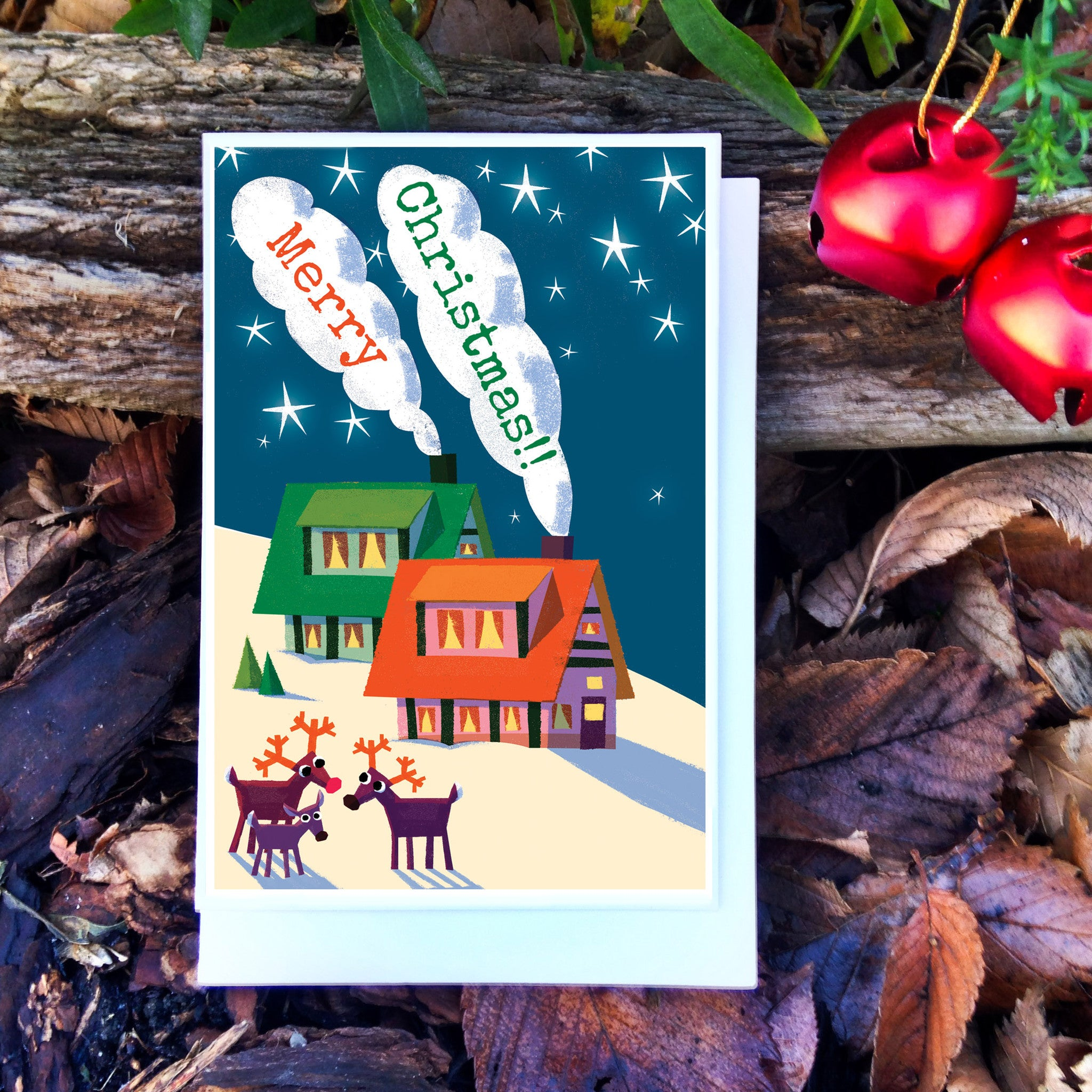 Reindeers Christmas Card - Scratch N' Sniff series