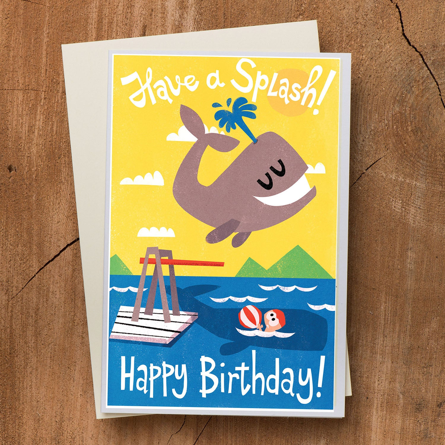 Whale Birthday Card - Have a splash!