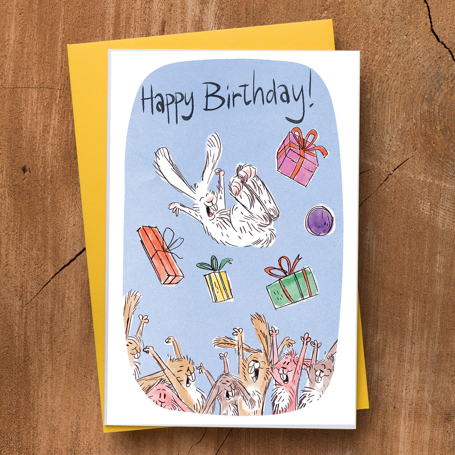 Bunnies Birthday Card