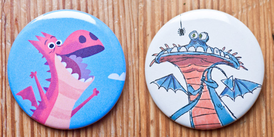 Dragons Button or Magnet Set
