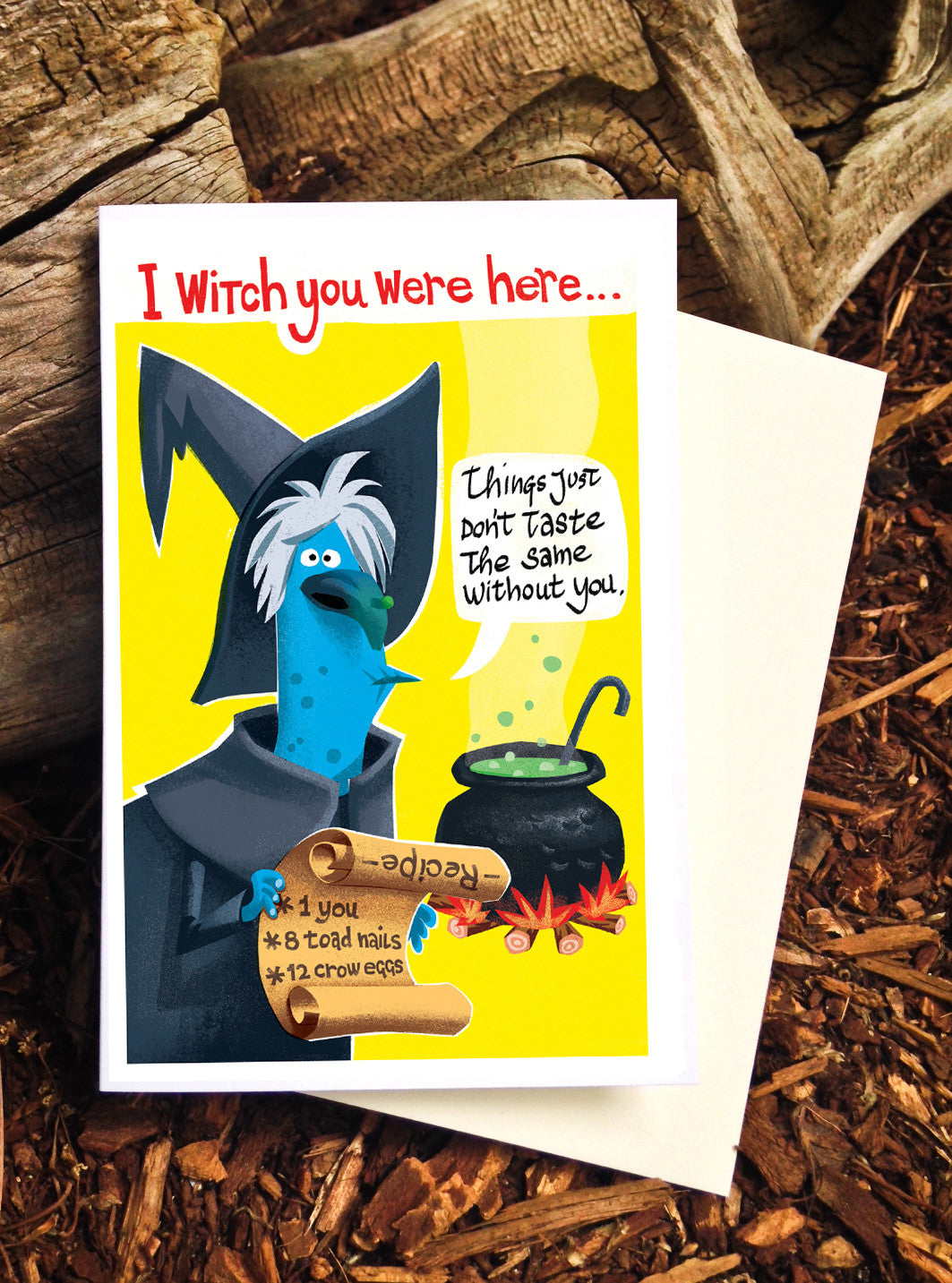 Witch you were here! - Card